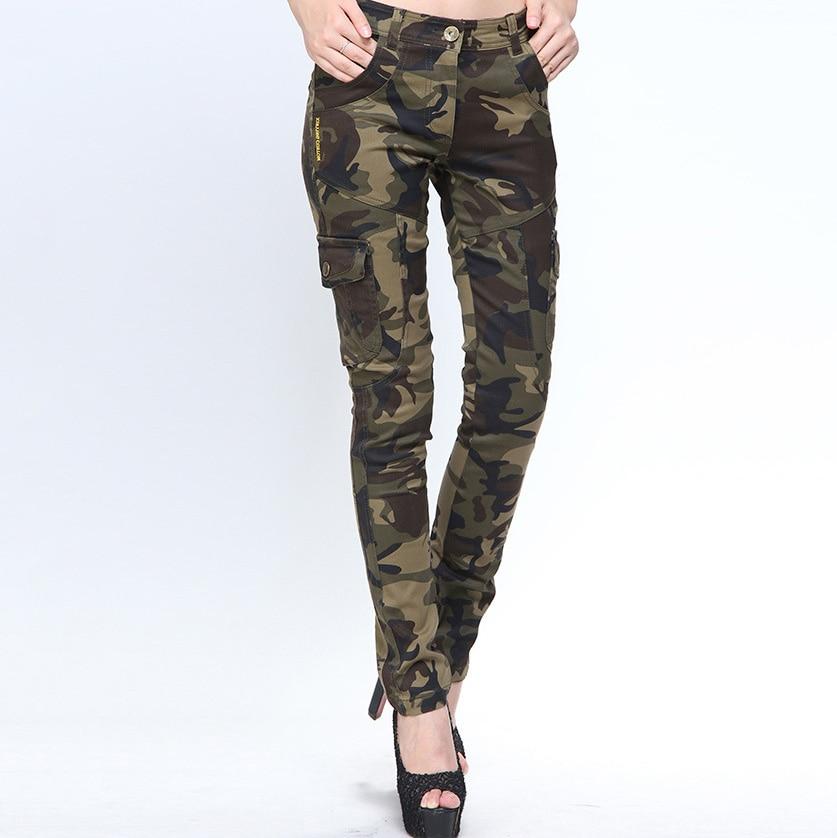 Pantalones Cargo Senderismo Deporte De Escalada Pantalones Tacticos Ajustados De Camuflaje Mujer Bodega Outdoor